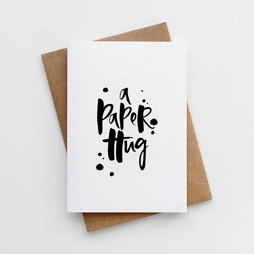 'A Paper Hug' Card