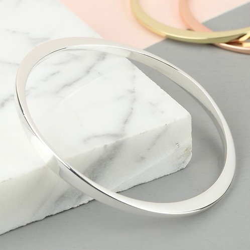 Lisa Angel - Twisted Bangle - Silver - Spring Box