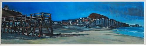 Grenier - Saint Aubin sur Mer - 33x100 cm - Estampe numérigraphique