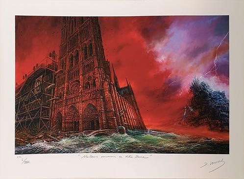 Vervisch - Meilleurs souvenirs de Notre-Dame - Estampe numérigraphique - 50x70