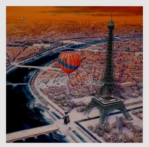 Vervisch - Tour Eiffel - Estampe numérigraphique - 64x64 cm