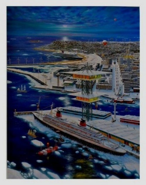 Vervisch - La Légende du Havre - Estampe numérigraphique - 71x55 cm