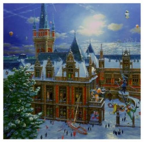 Vervisch-Soir de fête au Palais Bénédictine - Estampe numérigraphique - 58x56 cm