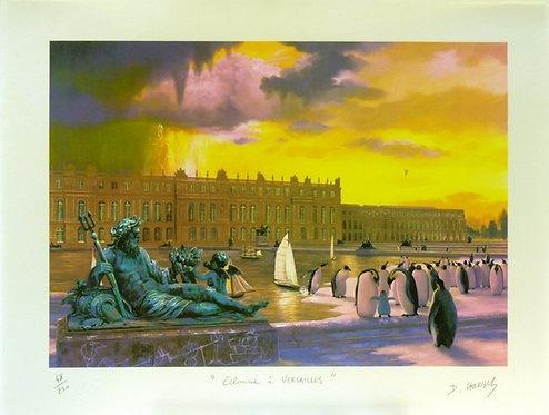 Vervisch - Éclaircie à Versailles - Estampe numérigraphique - 56x66 cm