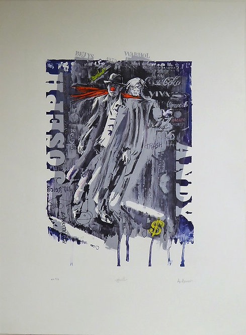 Authouart- Ghosts - 78x57 cm - Lithographie originale et signée