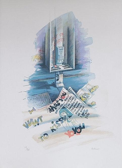 Authouart - Miss You - 66x51 cm - Lithographie originale et signée