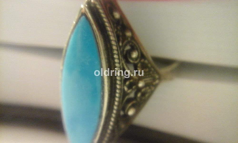 turquoise ring imitation glass