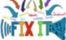 Graphic of FIX IT issues.