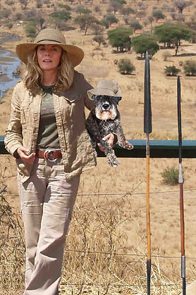 Candace Carson and Sigi in Africa