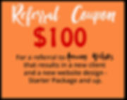 referral coupon for $100