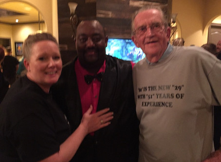 Milestone Magician Dewayne Hill performs for a surprise 80th birthday
