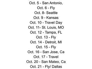 Tour Dates are Updates