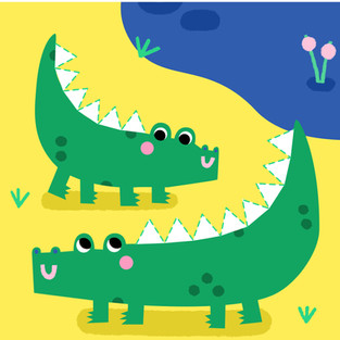 Mummy and Baby Crocodile