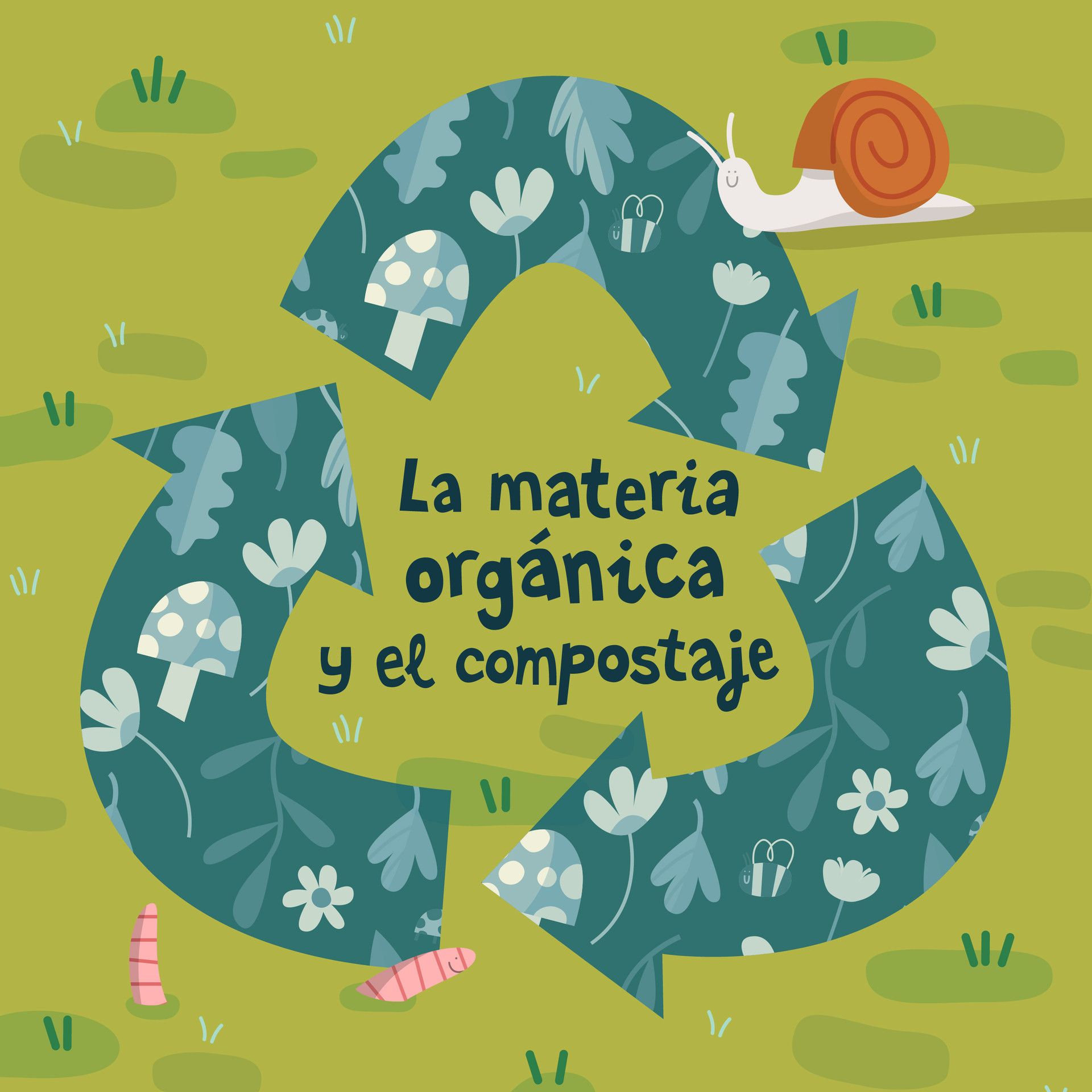 La materia orgánica - colouring book