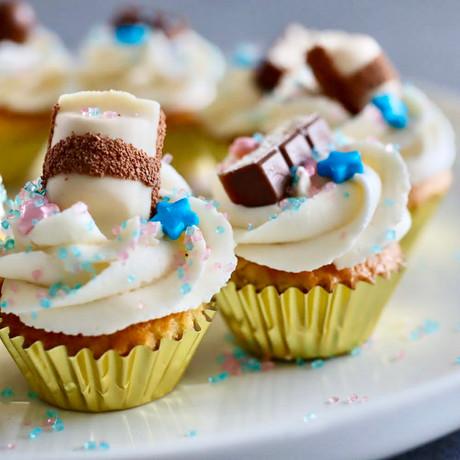 Mini Cupcakes Gender reveal Vanille
