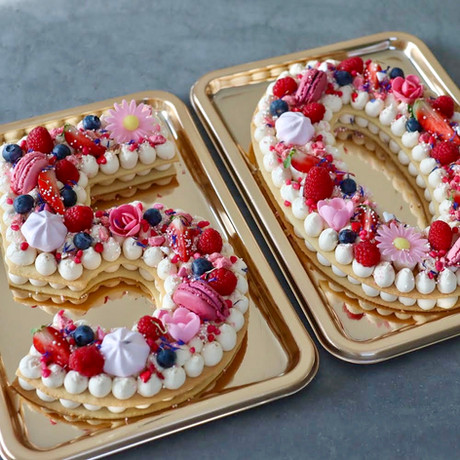 Number Cake Vanille Fruits Rouges