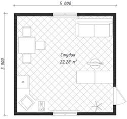 Дом Дачный 5х5
