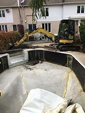 démolition de piscine creusée