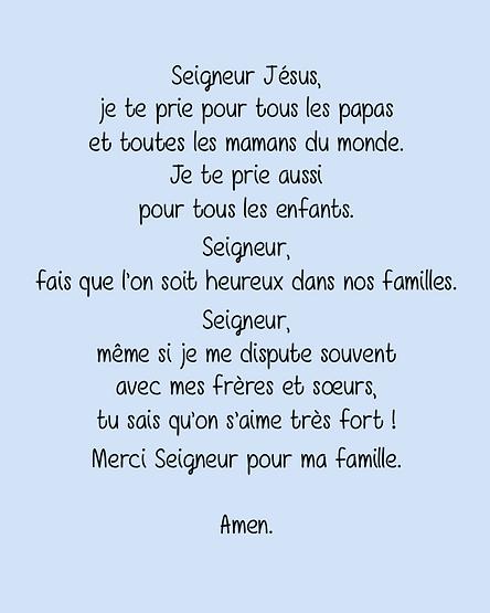 Prière pour les enfants