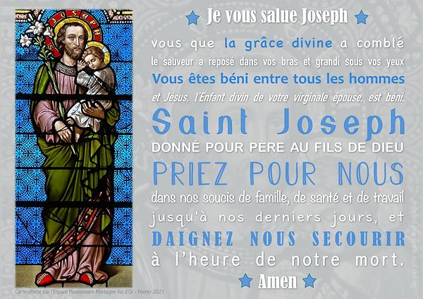 JE VOUS SALUE JOSEPH
