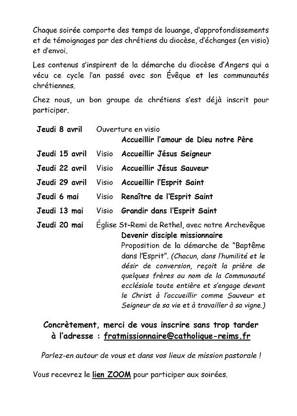 VIVRE LE TEMPS PASCAL 2021 - DISCIPLES M