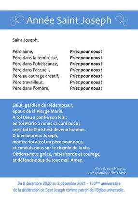 PRIERES ST JOSEPH