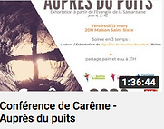 CONFERENCE DE CAREME - AUPRES DU PUITS