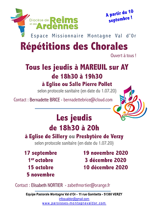 REPETITIONS DES CHORALES