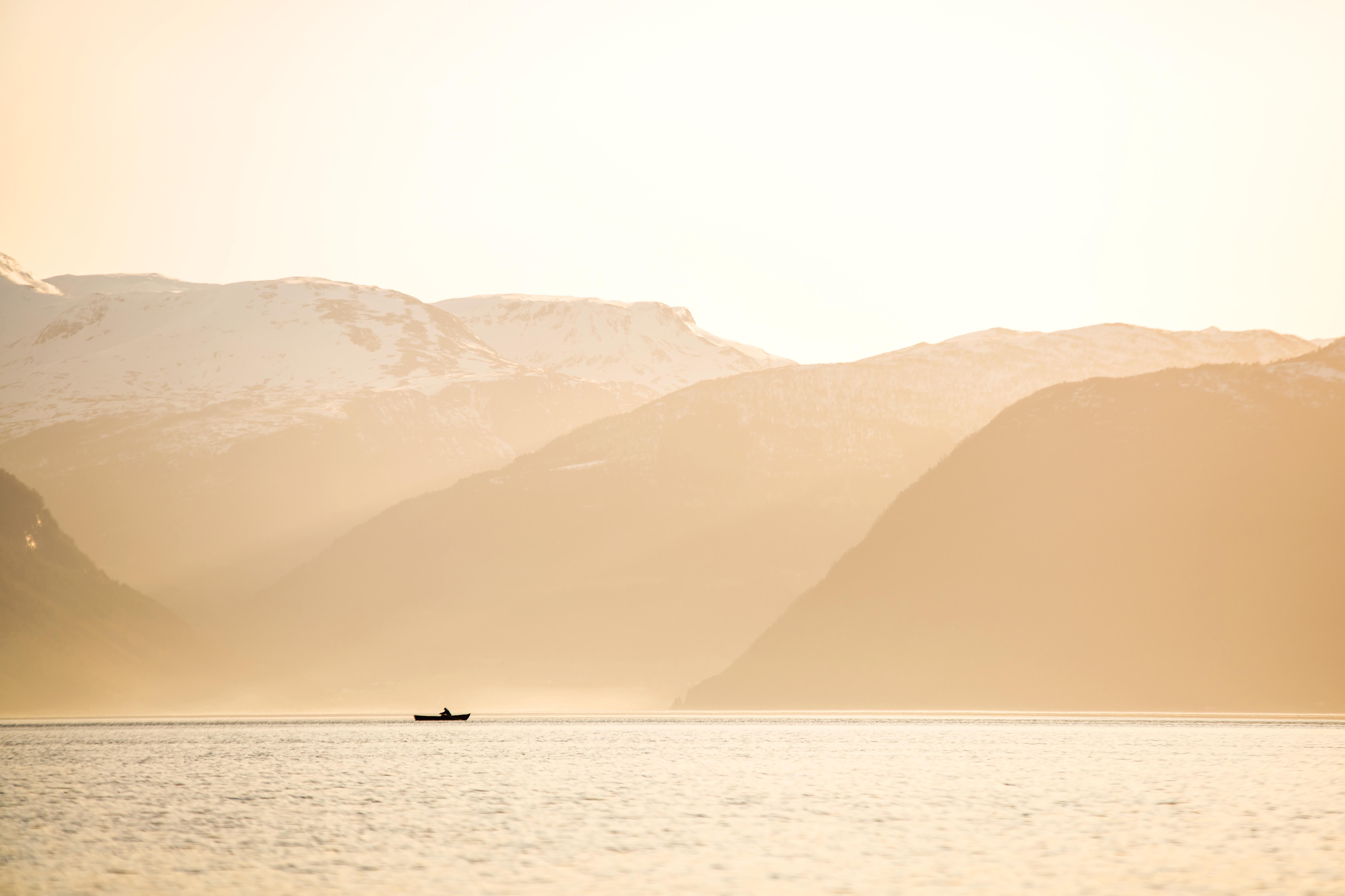 Boat in winter light