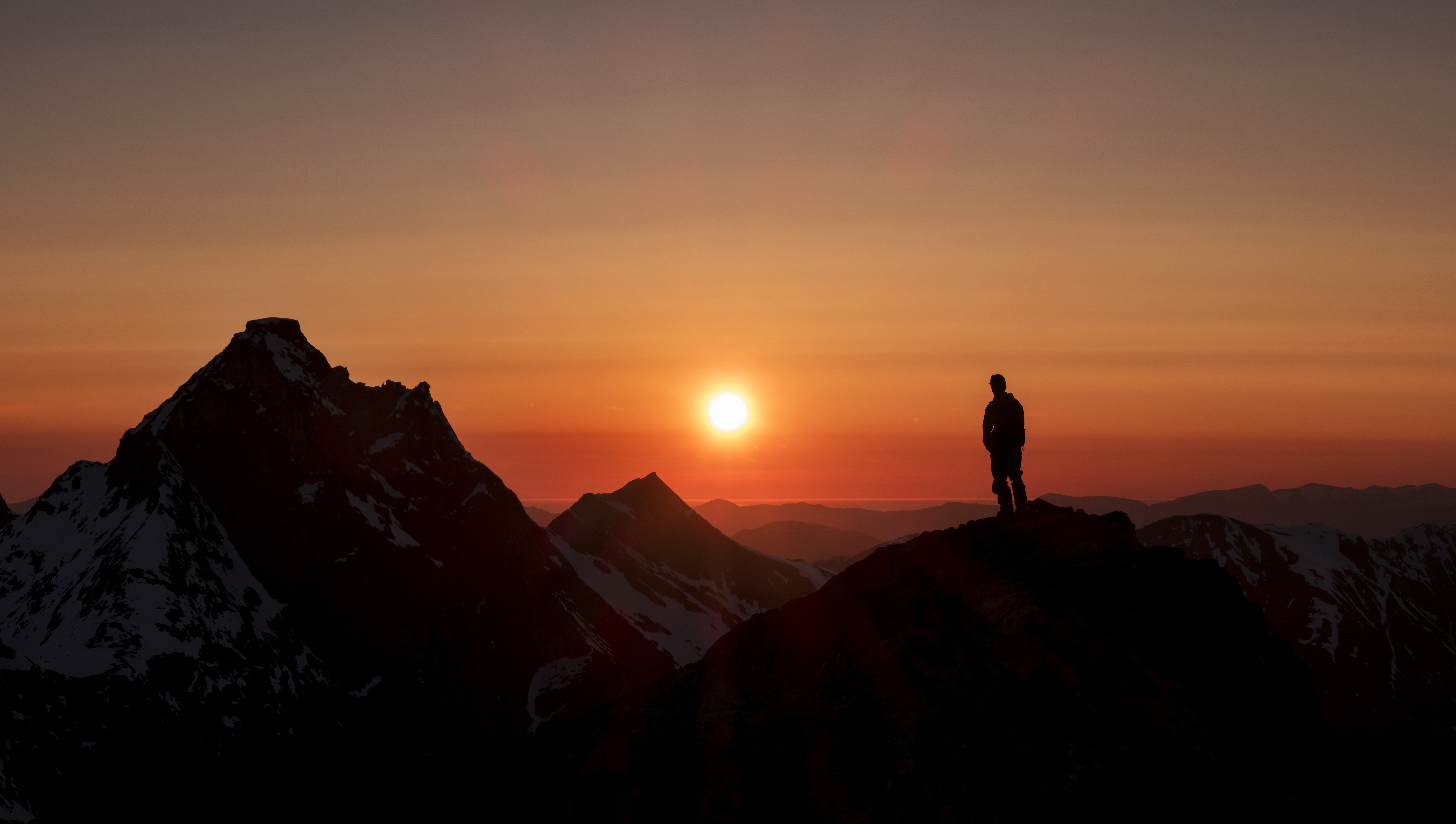 Sunset above Trollstigen