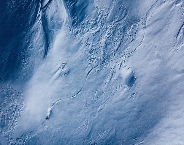 Skiing on the moon