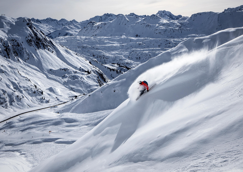 Skiing in St.Anton, Austria