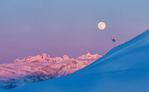 Backflip, Hurrungane, and Full Moon