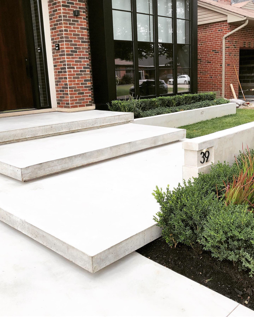 Floating Steps with Limestone Finish