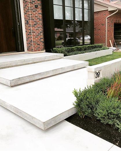 limestone finish concrete