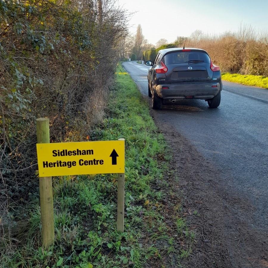 Sidlesham Heritage Centre sign