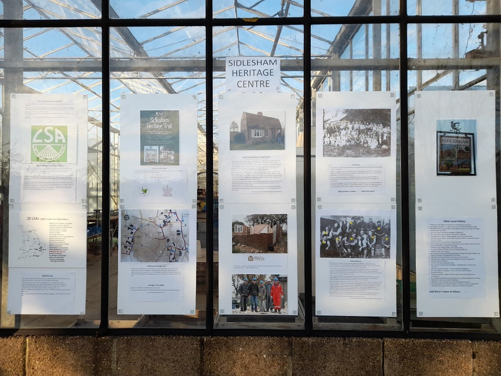 Sidlesham Heritage Centre posters close-up
