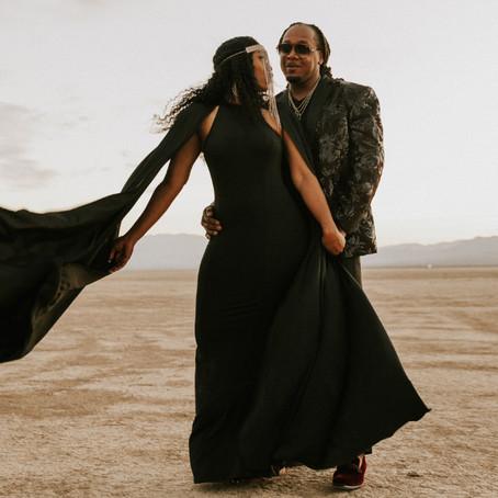 All Black Wedding Dress Inspiration | Tyra & Johnnie