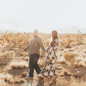 Aimee + Chase \\ Las Vegas Maternity Session in the Desert