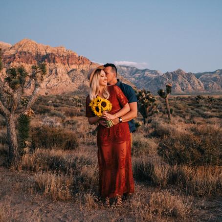 Sunrise Red Rock Canyon Engagement Session | Sheldon + Mitchell