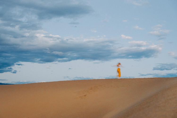 Death Valley Sand Dunes dancing