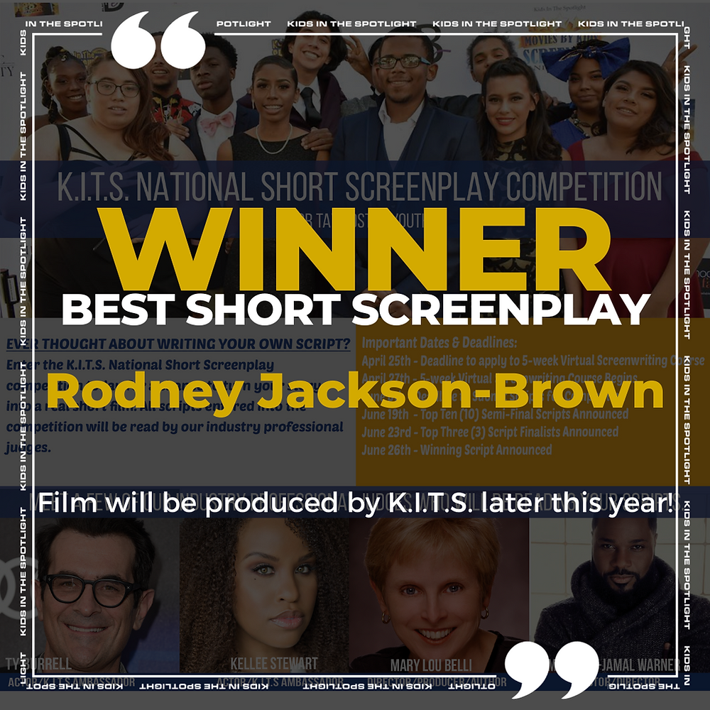 Rodney Jackson-Brown, Winner Best Short Screenplay