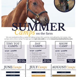 2021 Summer Horse Camps
