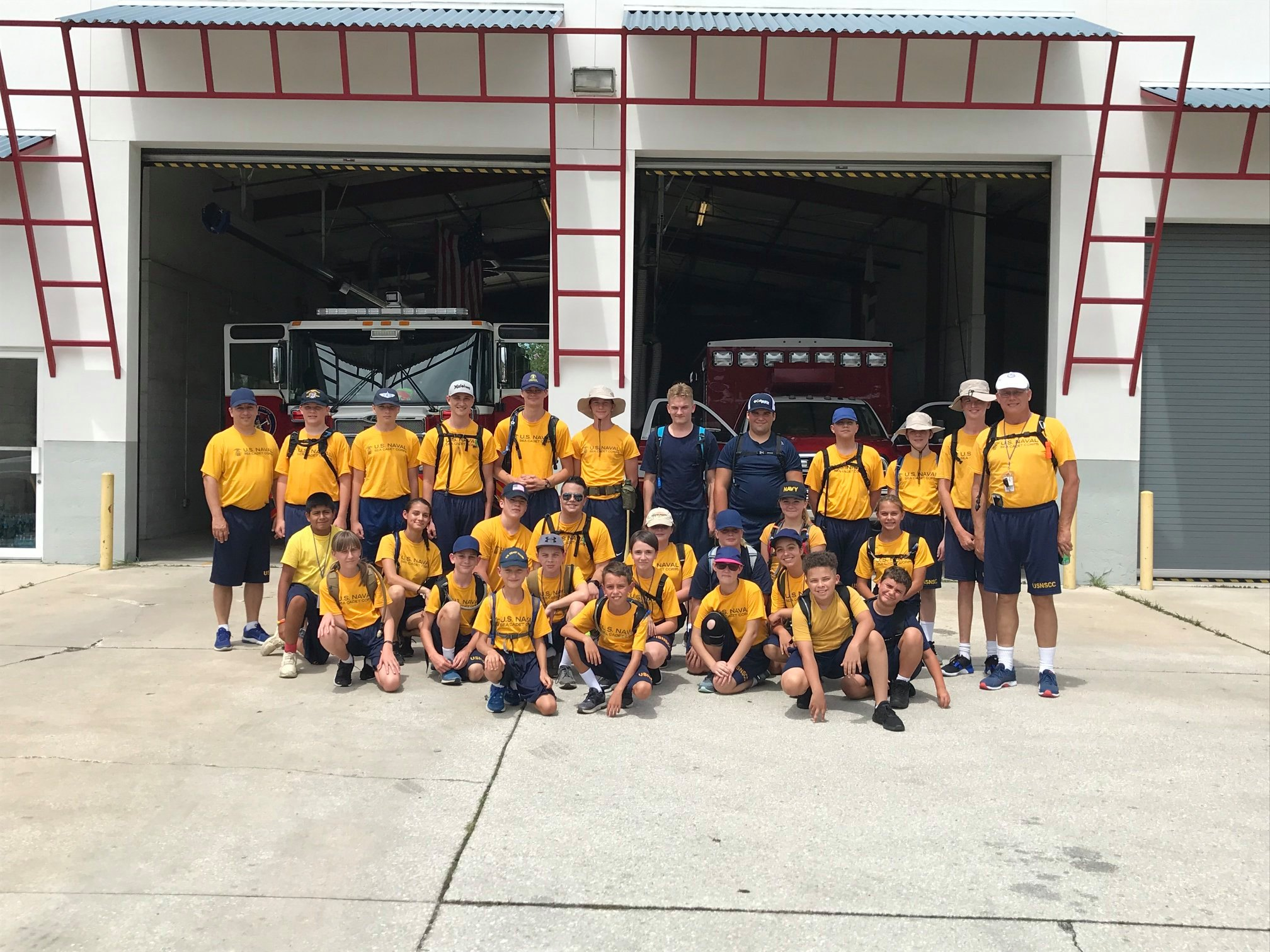 Drill at Fire Station