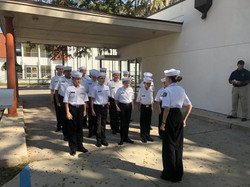 League Cadets at Inspection