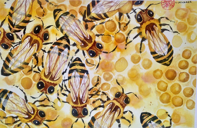 Bees, Watercolor.jpg