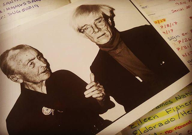 Georgia O'Keeffe and Andy Warhol Postcard