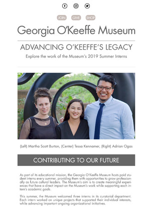 O'Keeffe Museum Email Newsletter