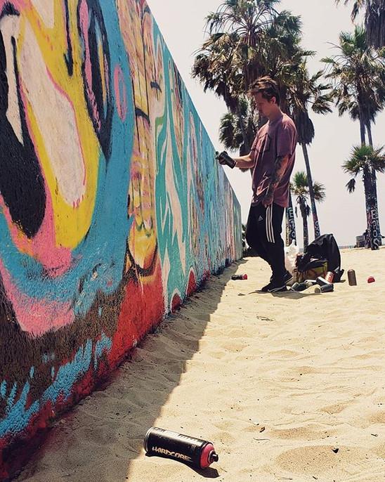 Graffiti Artist, Venice Skate Park, Venice California
