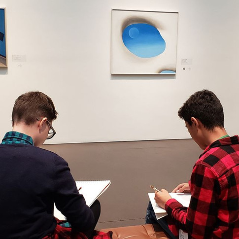 Milagro Middler Schoolers in the O'Keeffe Museum Gallery